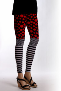 Legging zebre et points rouges
