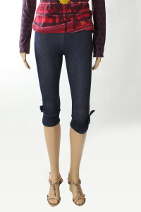 legging court imitation jean