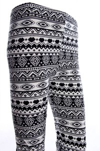 legging ethnique motif azteque